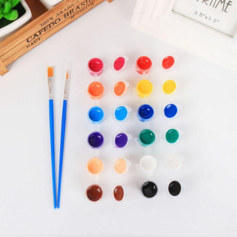 12 Acryl Farben Pigment Set Für Textil Kleidung Hand Painted Gips Wand Malerei Zeichnung Für Kinder Auswahlmaterialien