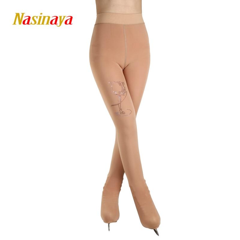 Personnalisé Figure De Patinage collants pour Fille Femmes Formation Concurrence Patinaje Glace De Patinage Chaud Polaire Gymnastique peau couleur 5