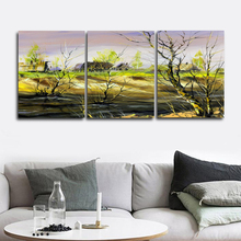 Laeacco Canvas Calligraphy Painting Spring Tree Grass Landscape Wall Art Poster and Print Nordic Living Room Home Decor