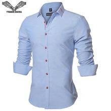 VISADA JAUNA 2017 New Men Shirt Solid Color Long Sleeve Casual Brand Clothing Camisa Social Masculina Business Dress 5XL N352