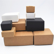White/Black/Kraft box for packaging 50pcs/lot Brown handmade soap paper boxes/candy gift box