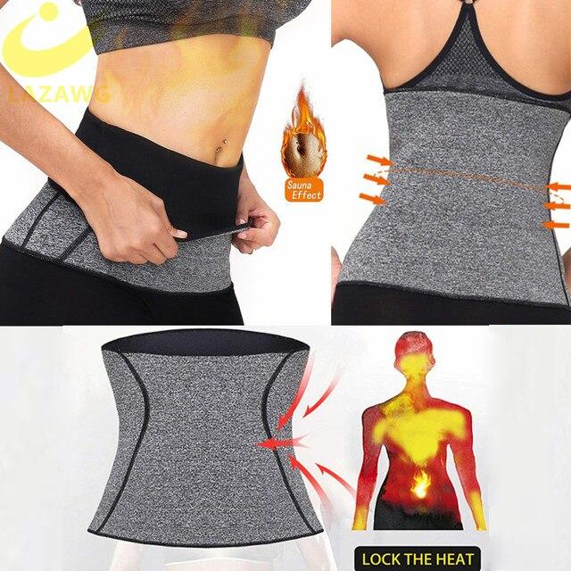LAZAWG Women Waist Trainer Tummy Control Girdle Neoprene Sweat  Weight Loss Top Slimming Underwear Workout Belt Modeling Strap 3