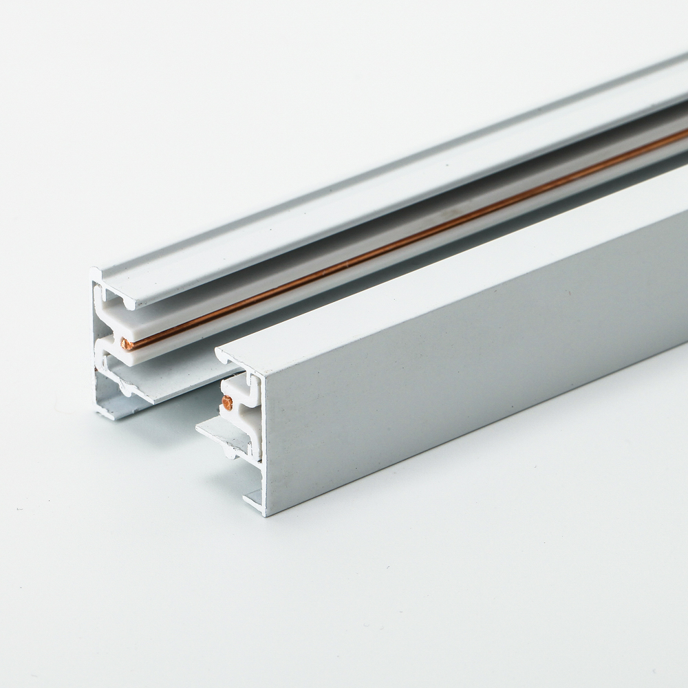 Us 10 99 8 Off 100cm 2 Wire Led Track T L Rail Joiner For Single Circuit Lighting Outside Aluminum Body Inside Pvc Insulation In