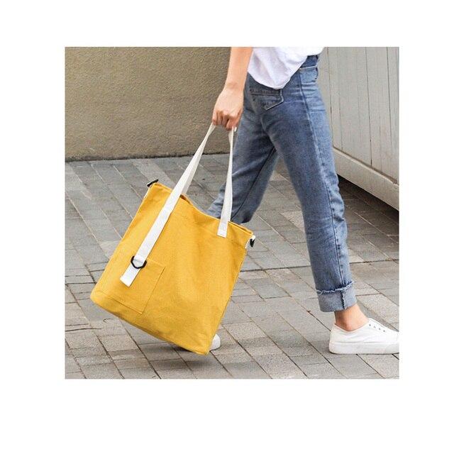 05d764cc6 High-Quality Women Men Handbags Canvas Tote bags Reusable Cotton grocery  Shopping Bag Webshop Eco Foldable Shopping Cart Trolley
