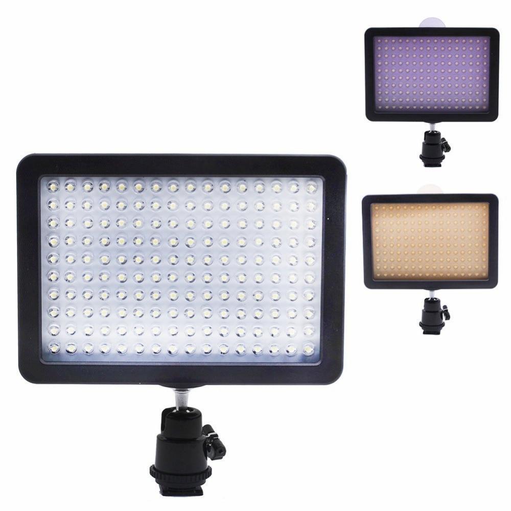 Bestlight ultra alta potencia 160 LED panel de luz de vídeo con Adaptador de zapata para Canon/Nikon/Olympus/Pentax DSLR + videocámaras