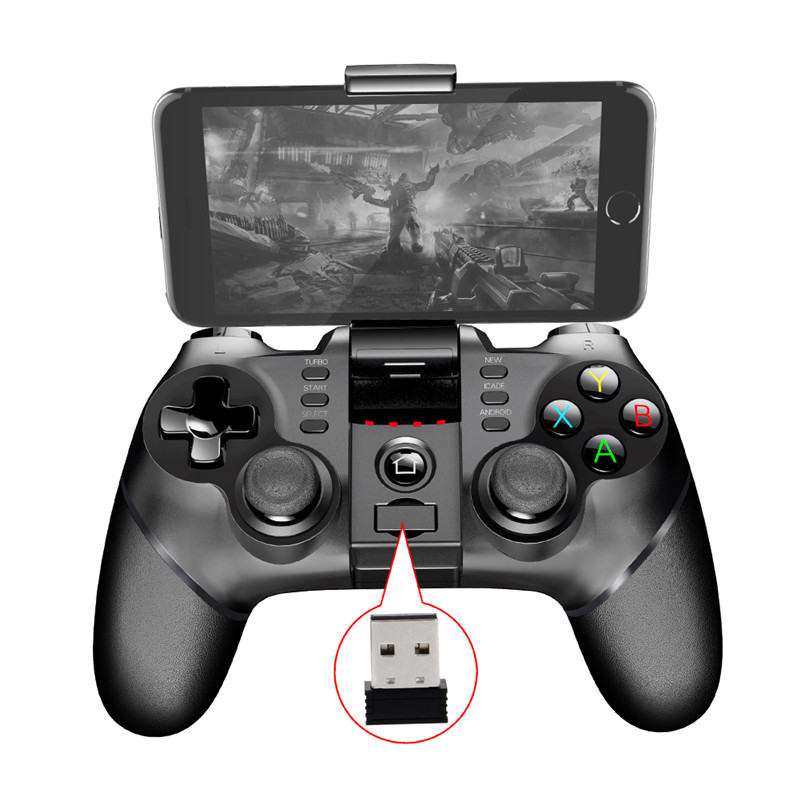 Ipega 9076 Bluetooth Wireless Gamepad With 2.4G Wireless Bluetooth Receiver Support For Android ios ps3 Game Console Player wireless bluetooth controllers joysticks for ps3 controle sixaxis controls joystick gamepad for ps3 games