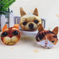 The new animal head type small pendant, 3 years of age or older to use soft plush toys, plush key chain bracelet toy