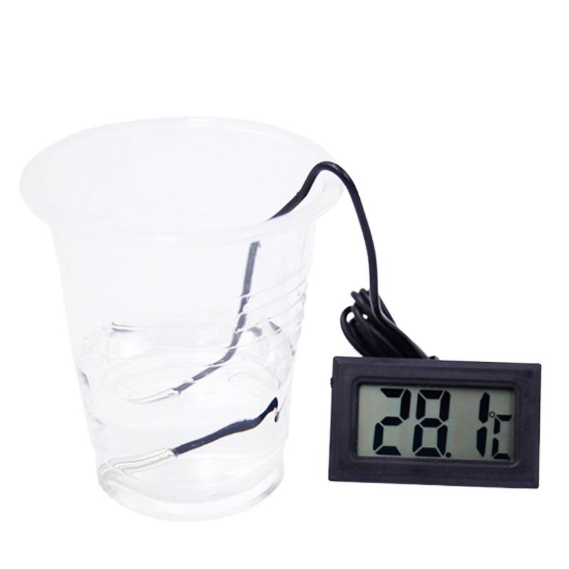 10 sztuk Termometr Lodówka Cyfrowy LCD Sonda Zamrażarka Termograf - Przyrządy pomiarowe - Zdjęcie 2
