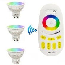 цена на Good quality  Milight Dimmable 2.4G Wireless Led Bulb GU10 4w RGB+CCT Led Spotlight Smart Lamp Lighting AC86-265V With Remote