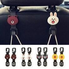 2 pièces universel multifonctionnel broches clips siège de voiture crochet cintre dans la voiture trucs support suspension Auto intérieur accessoire