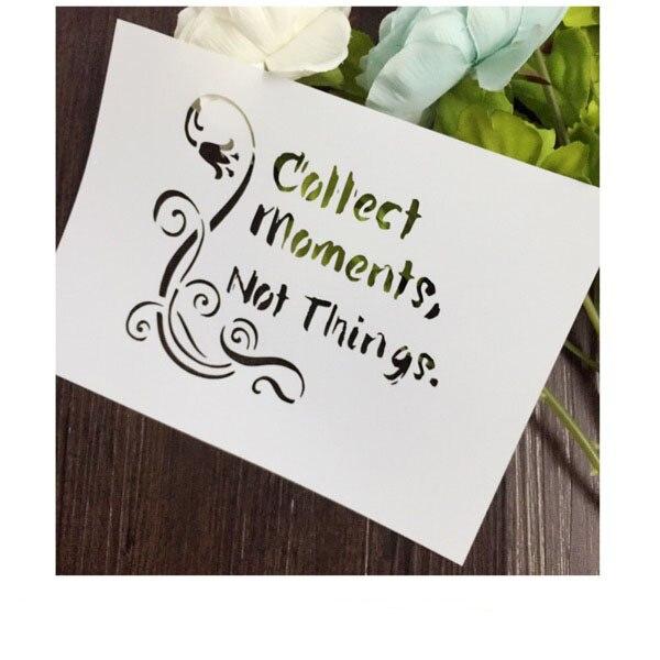 Recoger Momentos tarjeta Scrapbooking álbum DIY enmascaramiento ...