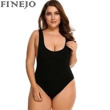 Sleeveless Fit One Piece Plus Size Bodysuit