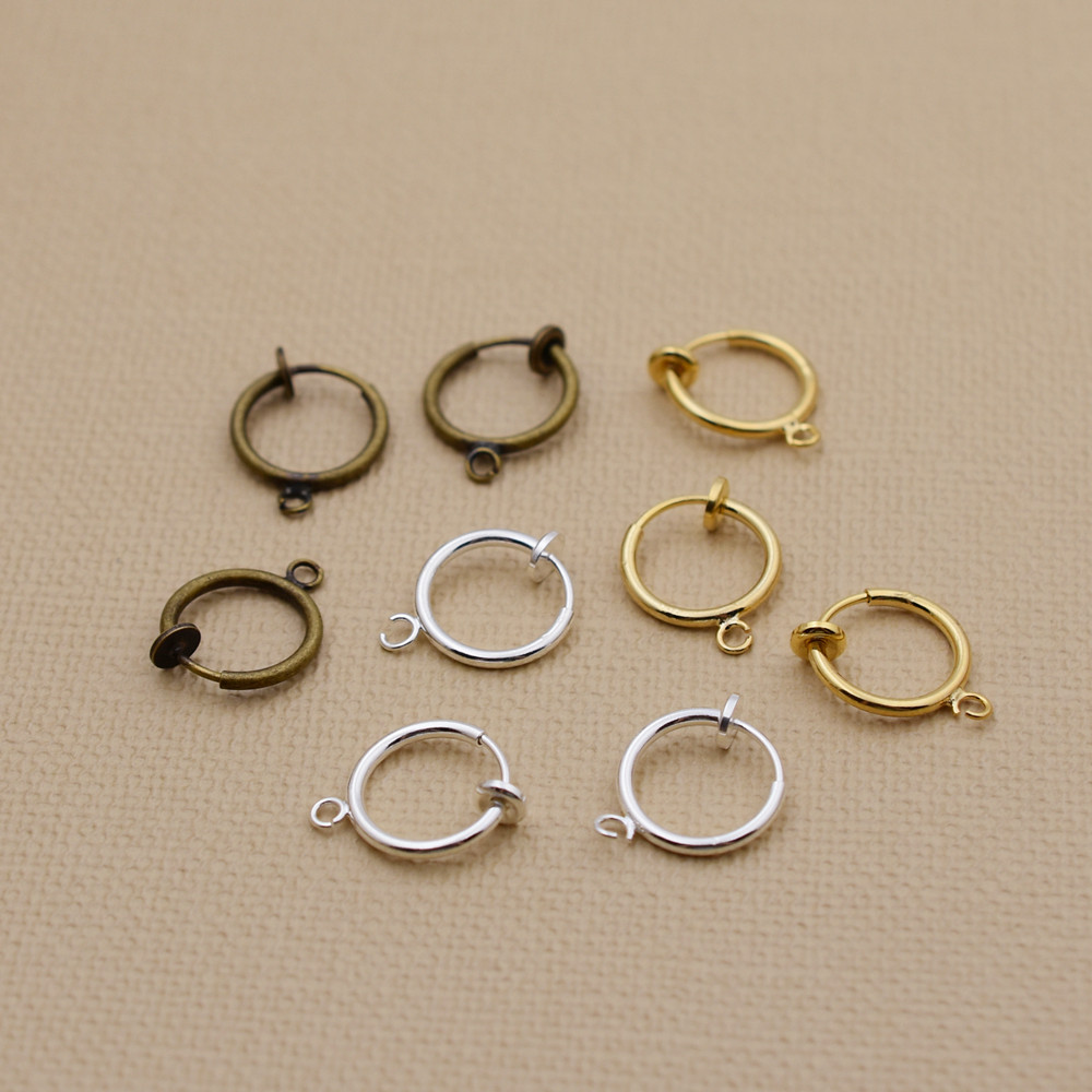 Invisible Spring Ear Clip No Pierced Ear Clip Stud Earrings Jewelry  Findings Wholesale 50 Pieces 25pairs