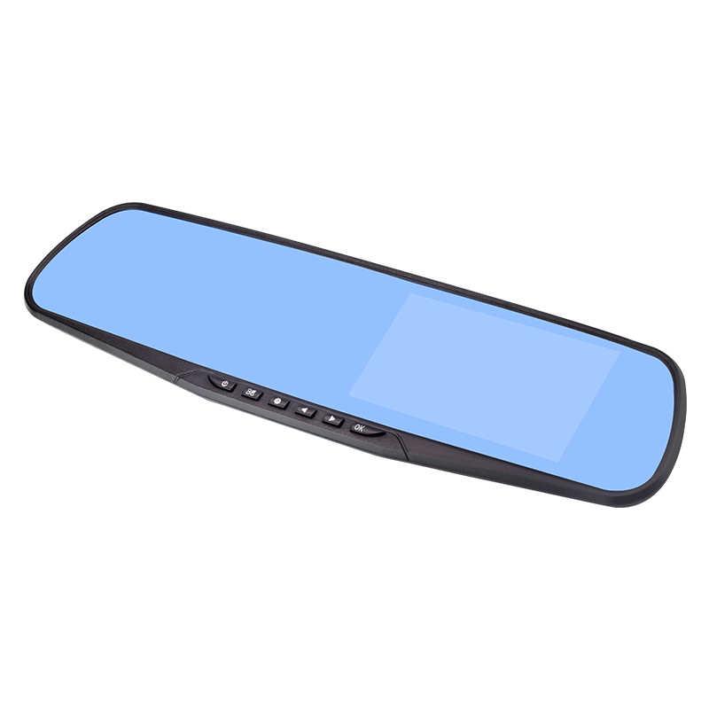 4,3 дюймов 1080 P Автомобильный зеркало заднего вида Автомобильный видеорегистратор full HD 1080 p Автомобильный видеорегистратор для вождения автомобиля камера заднего вида автомобиля двойной объектив видеорегистратор