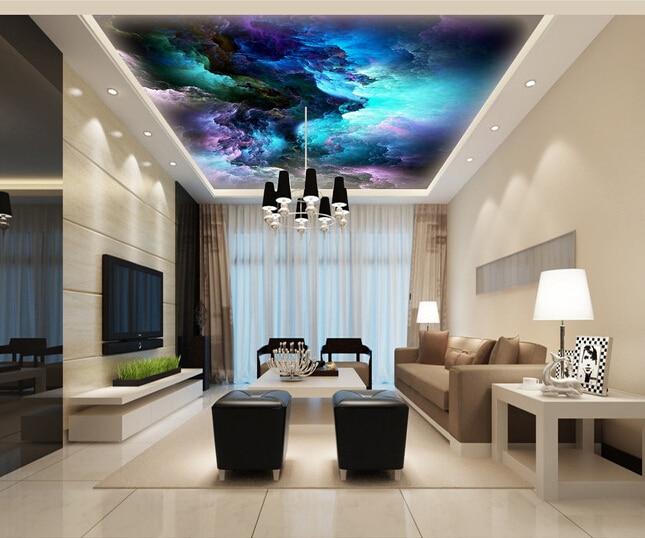 Custom Wallpaper 3D, Fantasy Cloud Mural For The Living