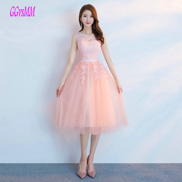 Sexy Coral Short Prom Dresses 2018 Cheap Prom Dress Scoop Tulle