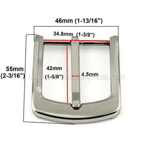 Image 2 - 1pcs 35mm Metal Plating Belt Buckle Men End Bar Heel Bar Single Pin Belt Half Buckle Leather Craft Belt Strap for 32 34mm Belt