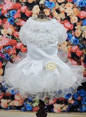 Kostumet e Nuseve Qeni Luksoze Princesha Qeni Qeni Dress Dasma Dress - Produkte për kafshet shtëpiake - Foto 5