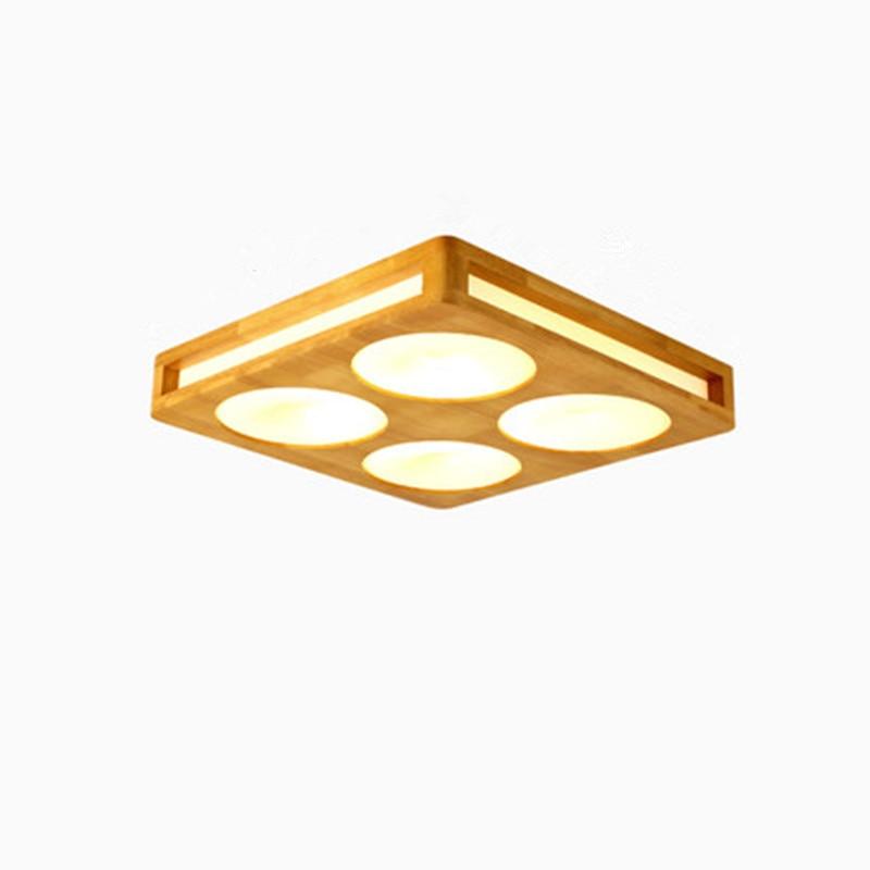 Kreative Einfachheit Der Nordic Solide Wohnzimmer Lampe FHRTE Schlafzimmer Leuchtet DIY Holz Decke Hause Beleuchtung