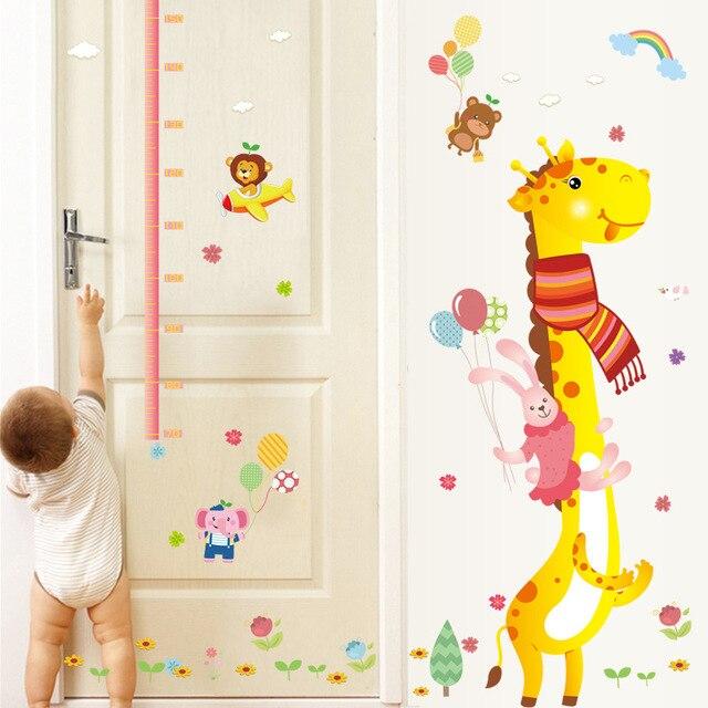 Cartoon Tier Giraffe Höhe Aufkleber Kinderzimmer BaBy Wandaufkleber ...