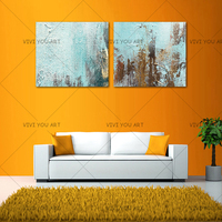 Beautiful Colorful Home Decor Oil Painting Modern Abstract Wall Picture Handmade Golden Circle Oil Painting Decoration Unframed