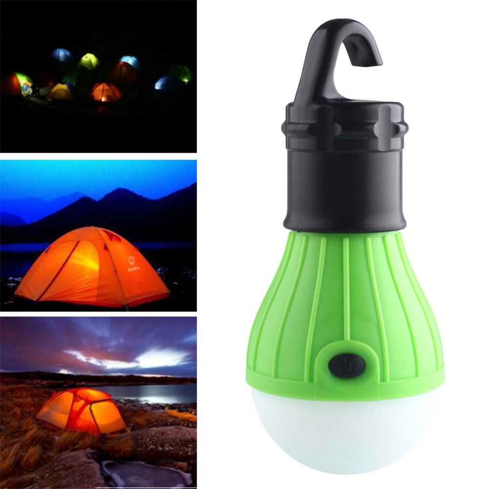 Mini PortableLight LED Bulb Emergency Lamp Waterproof Hanging Hook Flashlight For Camping 4 Colors Use 3*AAA  camping accessorie