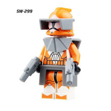 Single Sale Super Heroes Star Wars 299 CLONE TROOPER Mini Building Blocks Figure Bricks Toys kids gift Compatible Legoed Ninjaed(China)
