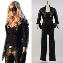 Green Arrow Black Canary Sara Lance Cosplay Costumes For Women Pleather Jacket Pants Outfit Halloween Costume