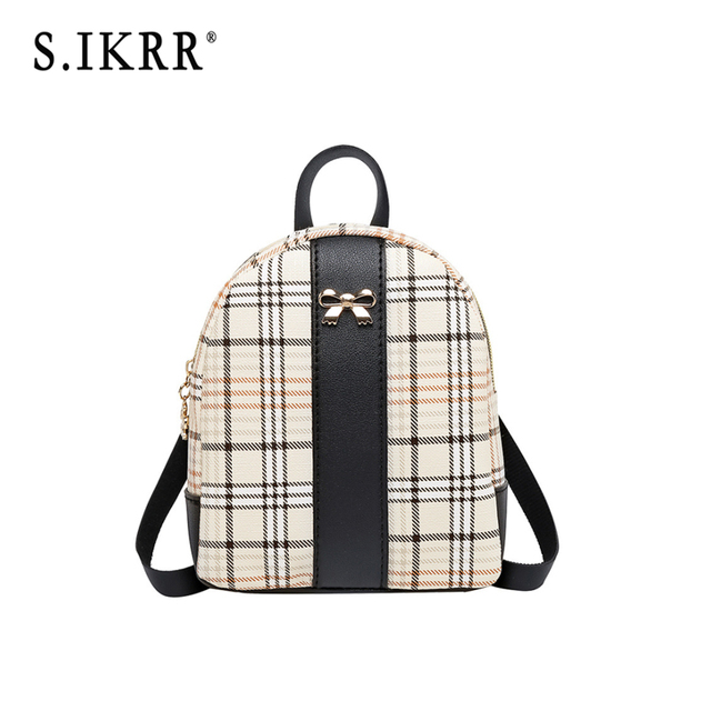 S.IKRR Women woven Backpack School Rattan bag Student School Bags For Teenage Girls summer beach bag travel mini backpack sac 1