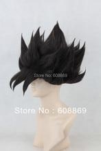 DRAGON BALL SON GOKU Cosplay Pelucas de Fibra Sintética Negro Disfraz de Halloween de Pelo + casquillo de la peluca