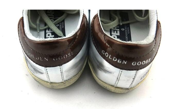 48a54b1f30 Brand Golden Goose Sneakers Superstar Silver Flag Men Women Low Cut ...