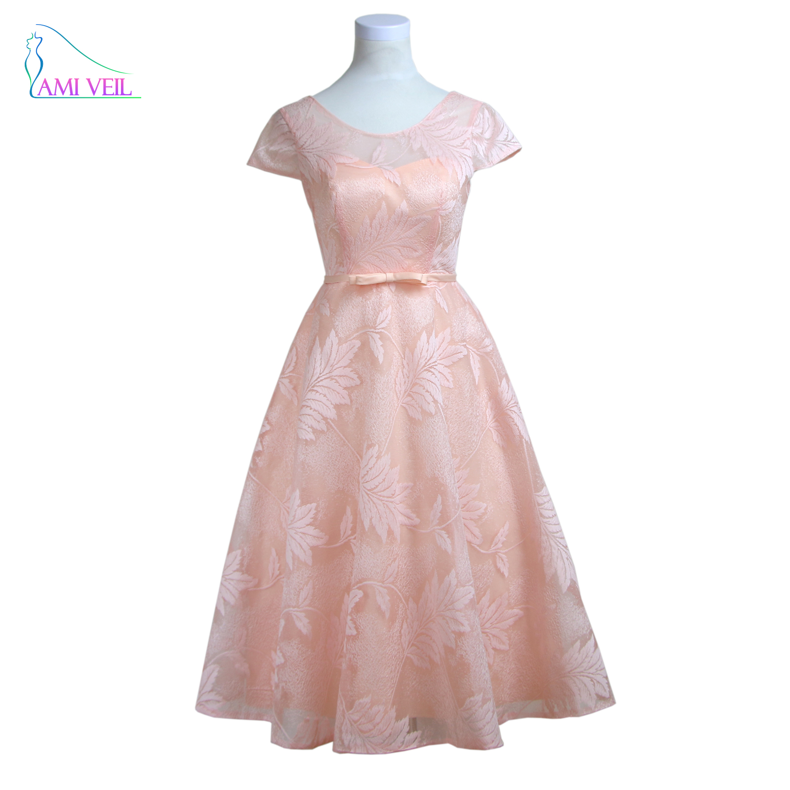 Print vintage short evening dress pink cheap formal party for Formal dresses for weddings cheap