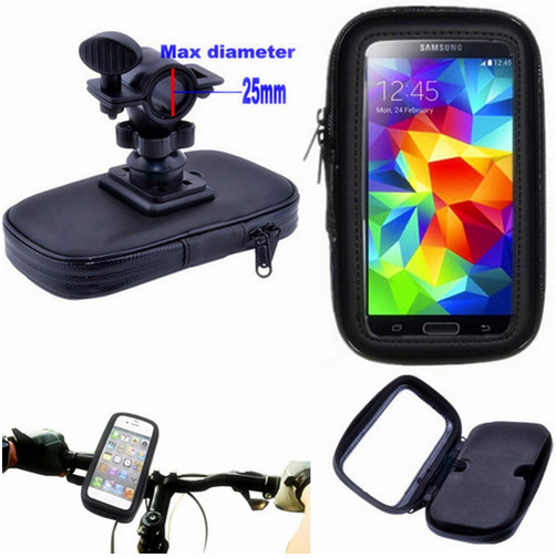 Motorcycle Phone Holder Mobile Support For Moto Bicycle Stand for LG G6 Samsung S9 S8 S2 F1 Universal Bike Holder Waterproof Bag