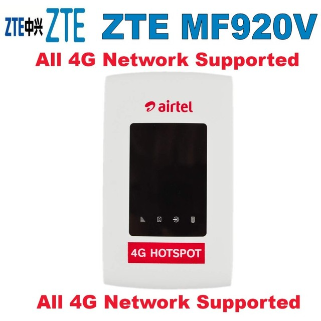 US $48 0 |UNLOCKED ZTE MF920V 4G LTE WiFi Modem Router 4GX FACTORY UNLOCKED  ZTE MF920V 4G-in Modems from Computer & Office on Aliexpress com | Alibaba