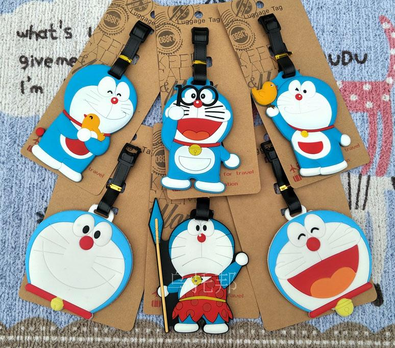 Smile Doraemon Style Anime Travel Accessories Luggage Tag Suitcase ID Address Portable Tags Holder Baggage Label New