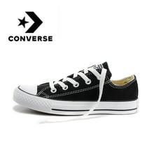 Converse hombres y mujeres zapatos de skate zapatos casuales al aire libre clásicos de lona Unisex Anti-deslizante zapatillas de deporte bajas de deportes diseñador