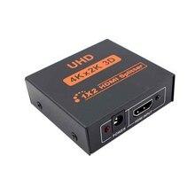 1 × 2 HDMI スプリッタ 2 ポートハブリピータアンプ hdtv 用 3D 4 18K * 2 3k フル HD 1080p
