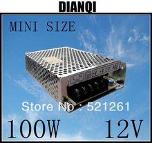 Питания 100 Вт 12 В 8.3A мощность suply блок 100 Вт 12 В мини размер din индикатор ac dc конвертер ms-100-12