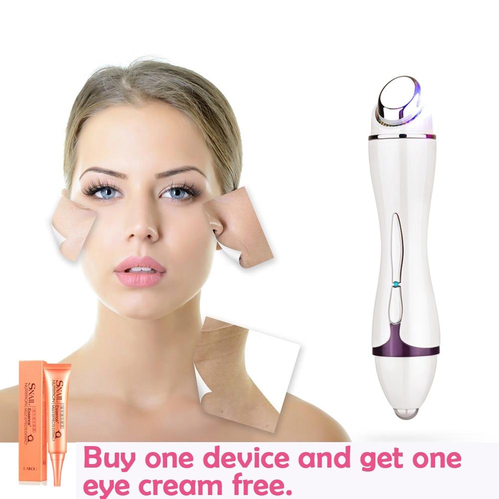 High-end Mini Vibration anti-wrinkle Ultrasonic massage eye wrinkles LED light Acne Wrinkle Remover face lifting beauty machine цена и фото