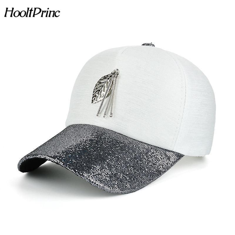 Summer Hat Cloth-Caps Baseball-Cap Metal Women Snapback Bone 8 for Gorras Leaves Hip-Hop