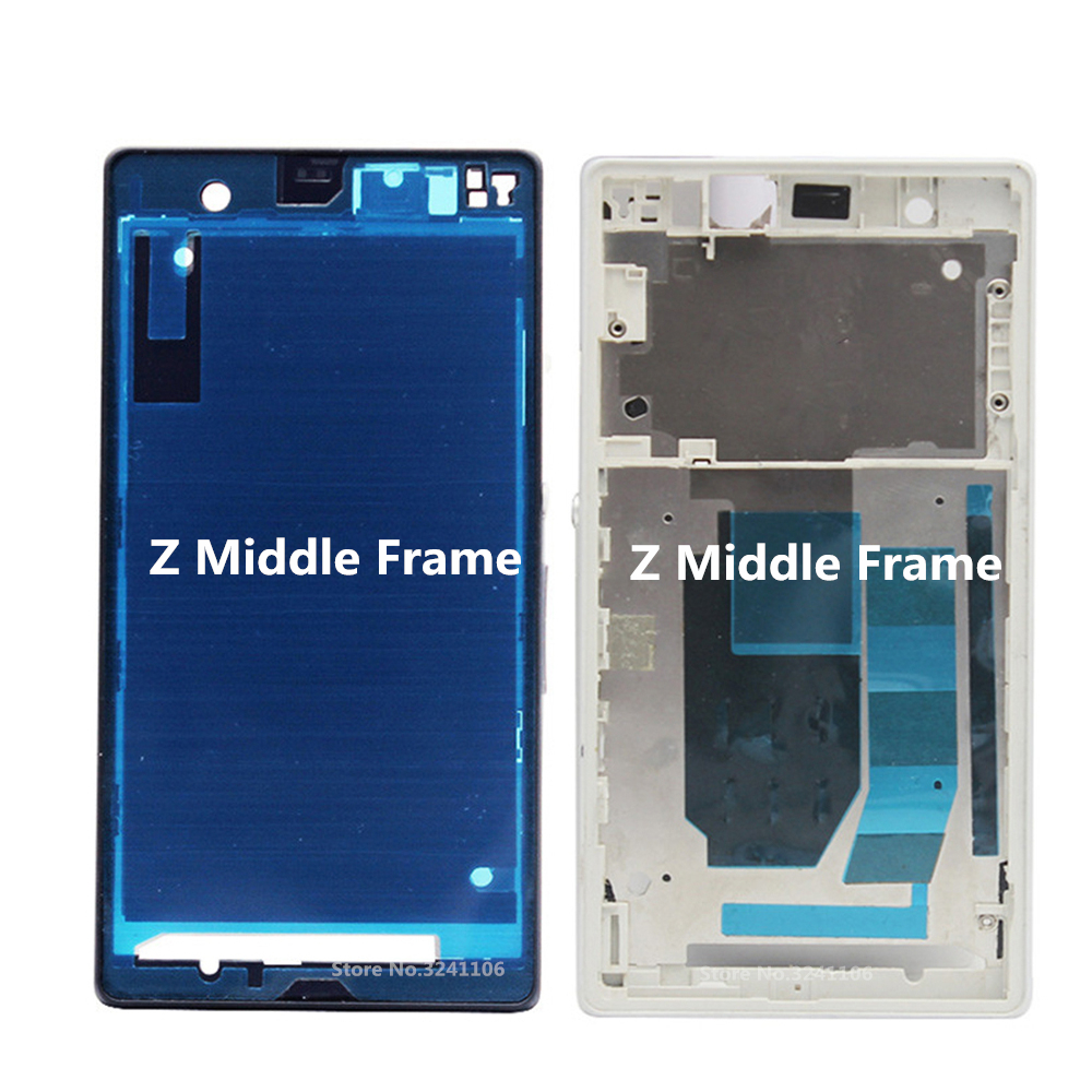 XIANHUAN Middle Mid Plate Frame Bezel Housing Cover for Sony Xperia Z L36h C6602 C6603 Middle Frame