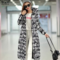 2017 high quality winter extra long down cotton jacket women's Thicken coat female outerwear Casual fashion printing coats