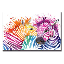 Hot Sales Framed 1 Panels Picture Abstract animal zebra series HD Canvas Print Painting Artwork Wall Art painting