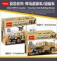 Máquina de guerra Do Exército Militar Hummer Transporte de Tropas com Soldado Montado Arma e Sacos De Areia brinquedos de blocos de construção tijolos
