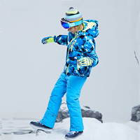 Goexplore Snowboard Suit Boys Children's winter clothing set Baby sport windproof Warm Coat Jumpsuit Ski Jacket And Pants Girls