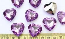 200 шт большой 3d Грановитая Акриловые Сердца bling Стразы/gems