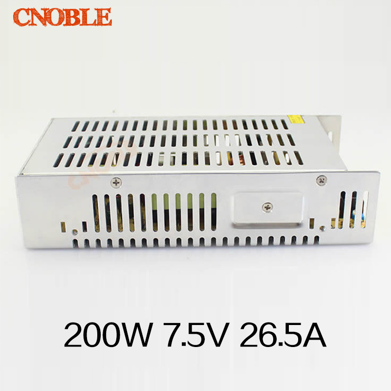 200W 7.5V 26.5A Small Volume Single Output Switching power supply for LED Strip light