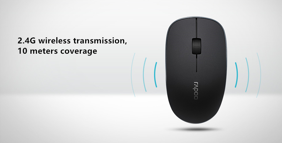 08116ed0ffb Rapoo Office Silent Wireless Optical Mouse Click Noiseless Slim Mice ...