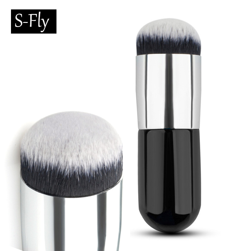 Big Round Makeup Brush BB Cream Concealer Foundation Powder Brushes nylon fiber Face Cosmetic Blush Brush Make Up Beauty Tools very big beauty powder brush blush foundation round make up tool large cosmetics aluminum brushes soft face makeup free shipping