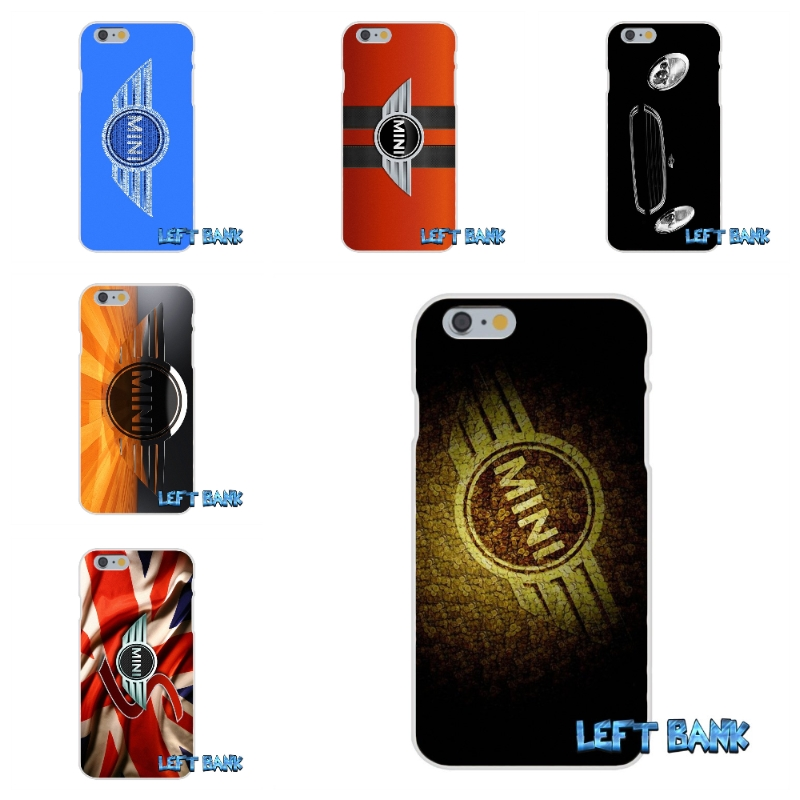 MINI COOPER BADGE STICKER BOMB Soft Silicone TPU Transparent Cover Case For iPhone 4 4S 5 5S 5C SE 6 6S 7 Plus